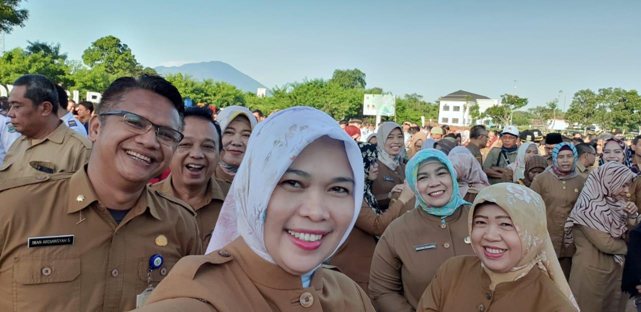 Apel gabungan setiap awal bulan di Lapangan Apel Setda Provinsi Banten