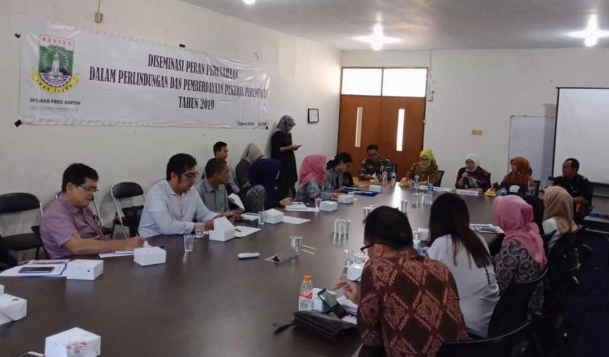 Diseminasi Peran Perusahaan dlm Perlindngan dan Pemberdayaan Pekerja Perempuan, Tangsel Kamis 11 April 2019 #bantenluarbiasa