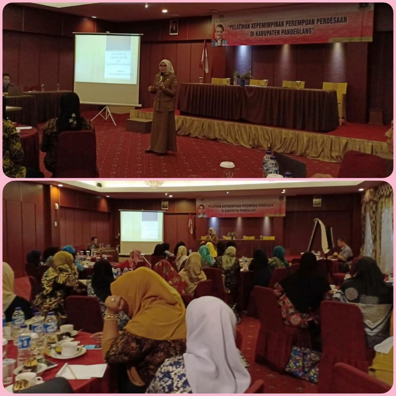 Pelatihan Kepemimpinan Perempuan Perdesaan di Horison Kab Pandeglang