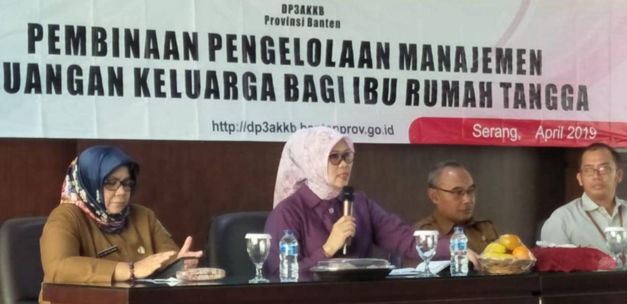 Pembinaan Pengelolaan Manajemen Keuangan Keluarga bagi Ibu Rumah Tangga di Gedung SKPD terpadu Lt 2 KP3B, Serang 8 April 2019