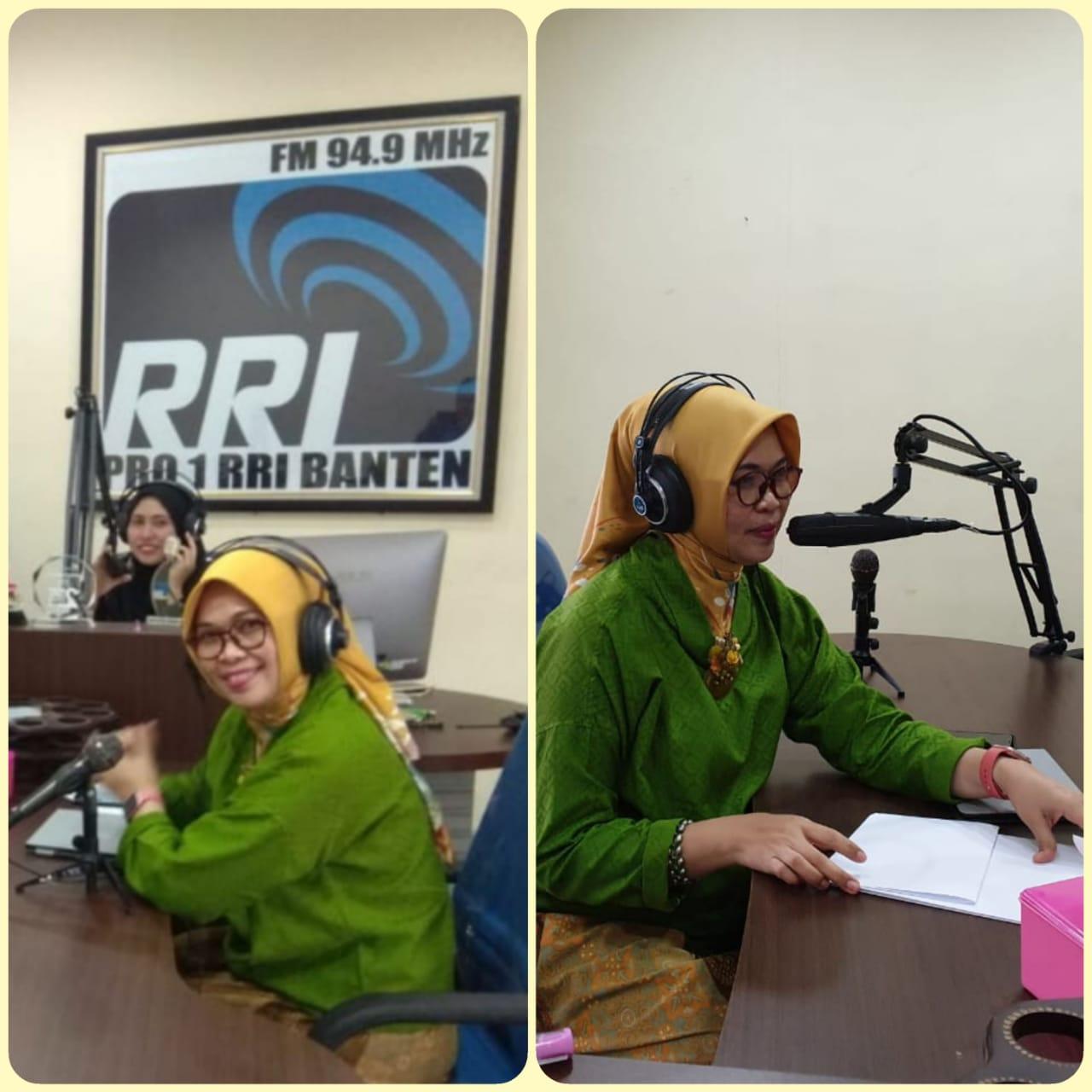 Talkshow Banten Bangkit Pasca Tsunami terkait DP3AKKB di studio RRI Banten