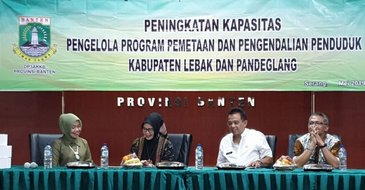 Peningkatan Kapasitas Pengelola Program Pemetaan dan Pengendalian Penduduk Kabupaten Lebak dan Pandeglang Tahun 2019