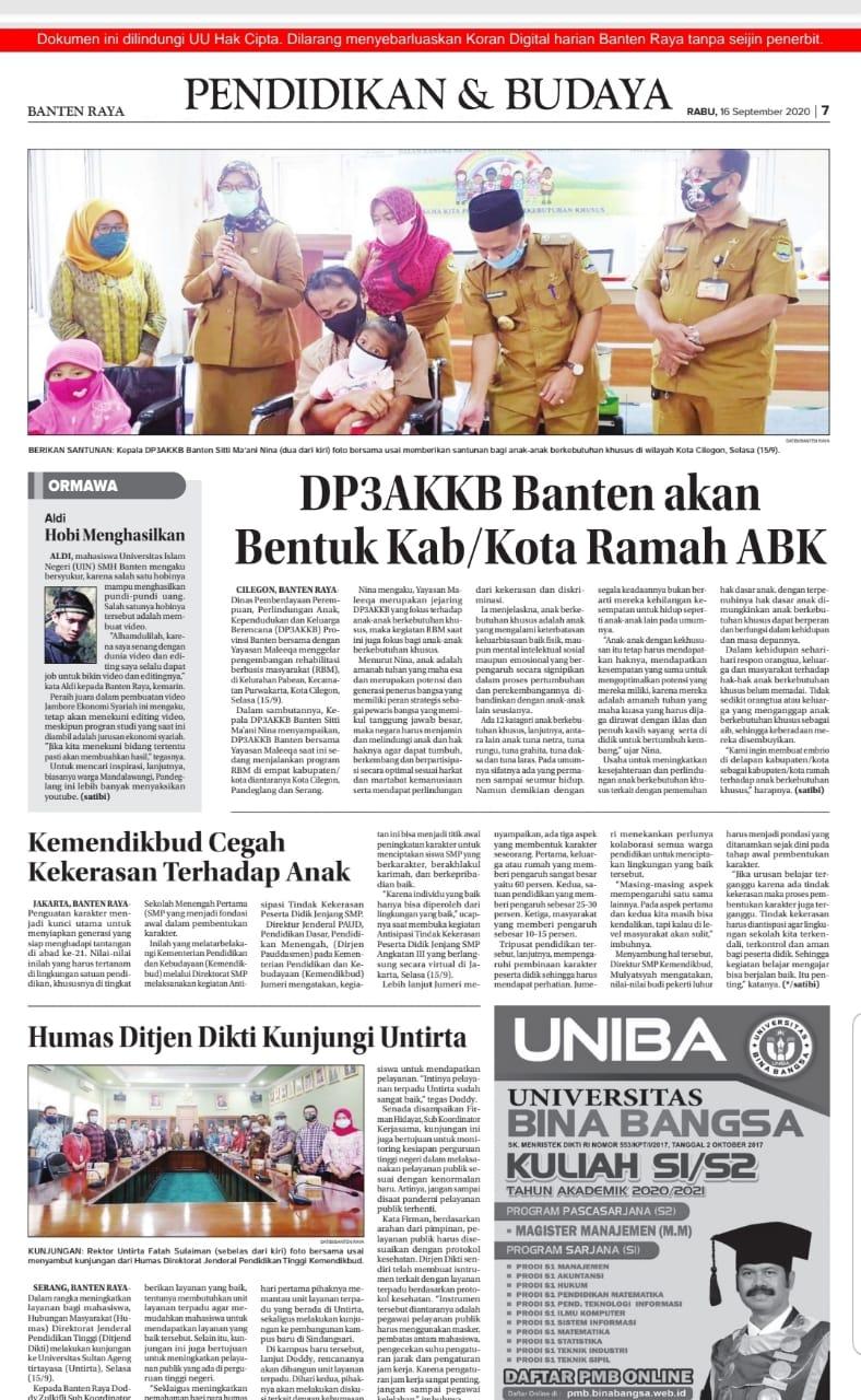 DP3AKKB Banten akan Bentuk KabKota Ramah ABK