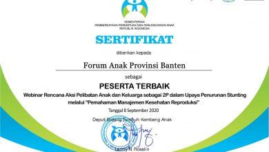 Forum Anak Banten sebagai peserta terbaik